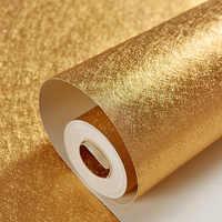 Luxury Gold Foil Wallpaper PVC Waterproof Thicken 3D Embossed Wallpaper Modern Striped Plaid Pattern KTV Bar Decor Wall Paper
