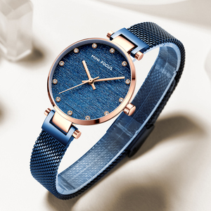 Image 4 - MINI FOCUS Women Watches Brand Luxury Fashion Casual Ladies Wrist Watch Waterproof Blue Stainless Steel Reloj Mujer Montre Femme