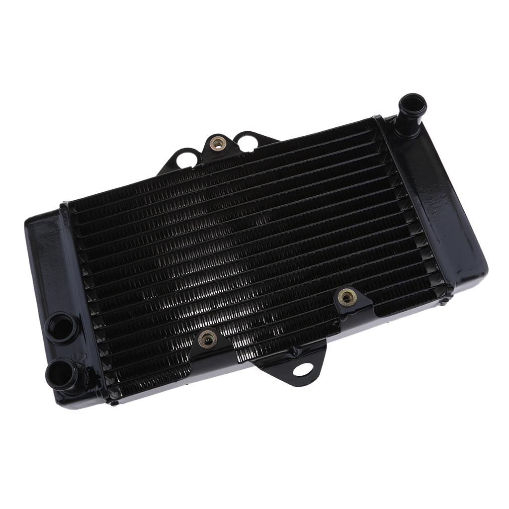 Черный алюминиевый масляный радиатор, детали охлаждения двигателя, пригодный для Honda VTR250 2001 2002 2003 2004 2005 2006 2007