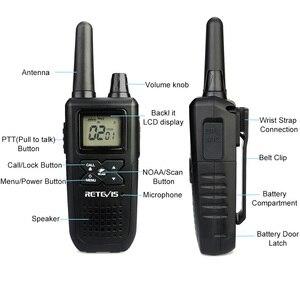 Image 2 - Mini talkie walkie portatif RT41 2 pièces VOX Scan sans licence FRS Radio bidirectionnelle NOAA alerte météorologique émetteur récepteur Hf