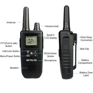 Image 2 - Retevis rt41 handheld mini walkie talkie 2 pces vox scan licença livre frs rádio em dois sentidos noaa tempo alerta hf transceptor