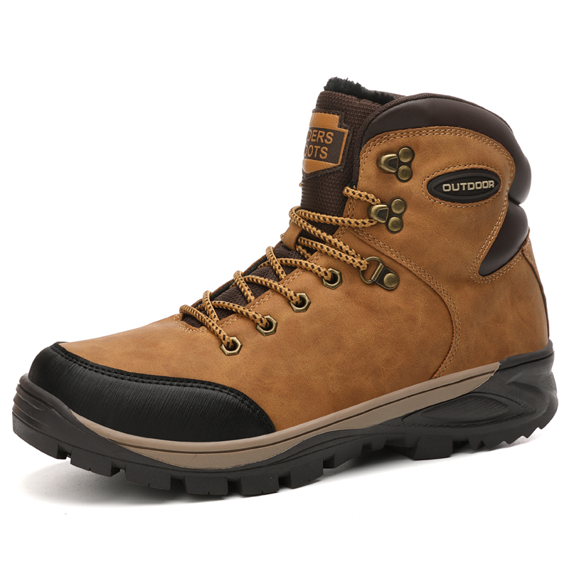 Boots Hiking-Shoes High-Top-Leather Outdoor Winter Autumn Men for Big-Size