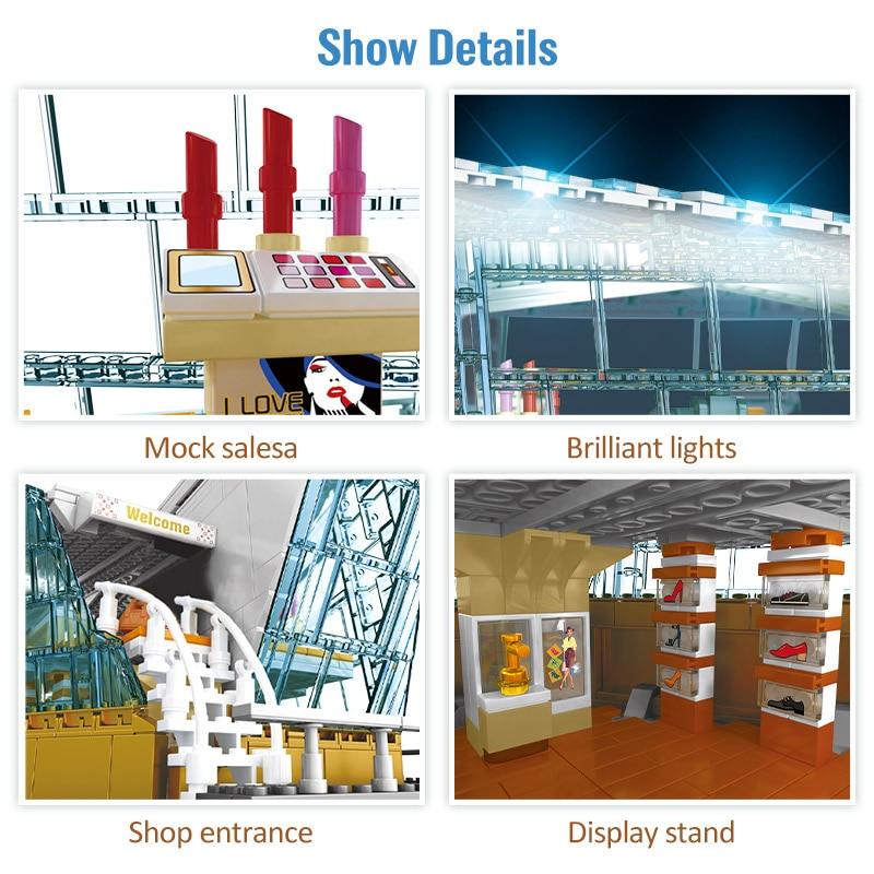 SEMBO Block LED Light Shopping Store Building Blocks