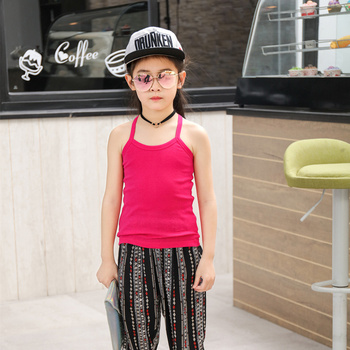 Children Tanks Summer Tops Wear Kid Boy Girl 100% Cotton Sports Vest Waistcoat Clothes Camisoles Kids Girls Casual Vests Outfits