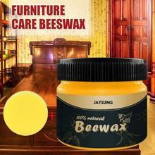 2PCs Wood Seasoning Beewax Solution Furniture Beeswax Home Cleaning cleans wood furniture wood cabinets polishes natural shine D