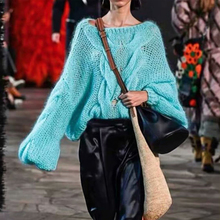 KIYUMI Sweater Women Oversize Free Urgan Gypsy Pullovers 2019 New Autumn Long Lantern Sleeve Boho Loose Knitted Sweaters