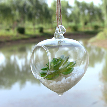 45pcs/pack Diameter=8cm One Open Onion Shaped Hanging Glass Terrarium Wedding Decorative Glass Pendant Friend Gift