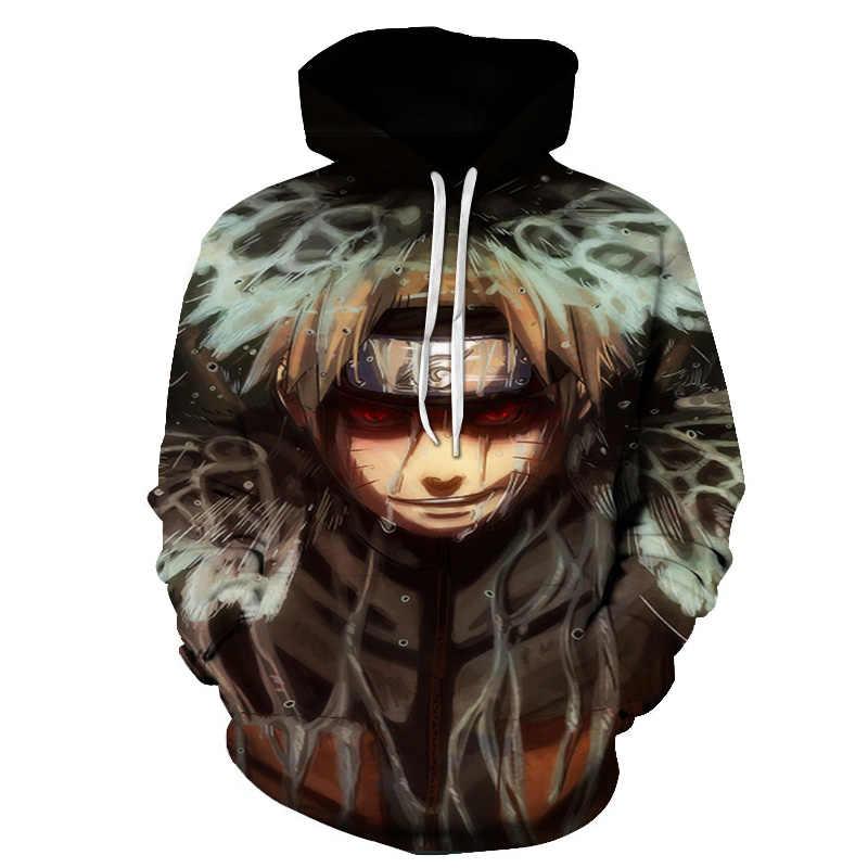 나루토 3d 인쇄 후드 여성/남성 2018 뜨거운 판매 긴 소매 캐주얼 후드 스웨터 애니메이션 패션 streetwear 의류 정의