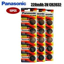 PANASONIC – 15 piles bouton 3v au lithium, pour montre et jouets, originales, cr2032, DL2032, ecl2032, 5004LC, KCR2032, BR2032