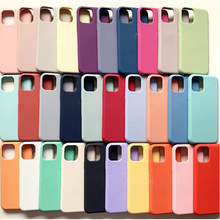 Luxury Original Official Silicone Case For Apple iPhone 12 Mini 11 Pro Max XR XS X 6 6S Plus 7 8 SE 2020 Full Cover