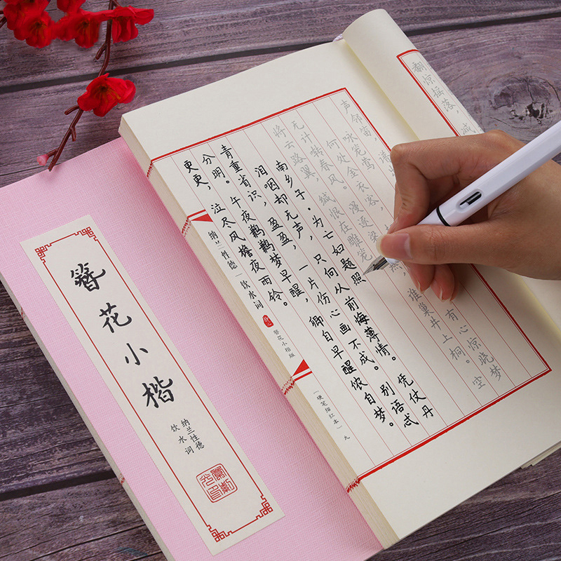 Chinese Kanji Calligraphy Reusable Hard Pen Practice Copybook Erasable Pen Learn Hanzi Adults Art Writing Books Adult Copybook