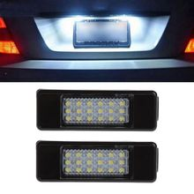 2pcs 18 LED License Plate Light Lamp For Peugeot 207 307 308 Citroen Berlingo 2004-2009 C3 C4 C5 C6 5D Automobiles Signal Lamp