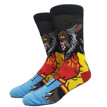 Cartoon Rabbit Sock Casual Hip Hop Creative Soft Comfortable Funny Novelty Skateboard socks Men Calcetines Hombre Divertido 12