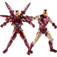 SHF Avengers Endgame Iron Man MK50 Nano Weapon set 2 /iron man mk85 PVC Action Figure Collectible Model Toy egg attack eaa 036 iron man 3 mark 42 mk xlii pvc action figure collectible model toy with led light