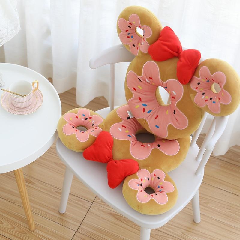 40cm simulacao donuts travesseiro almofada de pelucia brinquedo de pelucia boneca criancas decoracao para casa chocolate