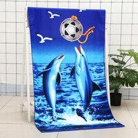 Delfino Stampato Quick Dry Assorbente Asciugamani da bagno In Microfibra Grande Telo da mare per Adulti Costumi Da Bagno Spiaggia del Bagno Telo da bagno Stuoie su