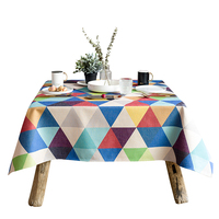 Rectangle tablecloth colorful printed table covers dust proof thick table cloth home kitchen outdoor party banquet decoration