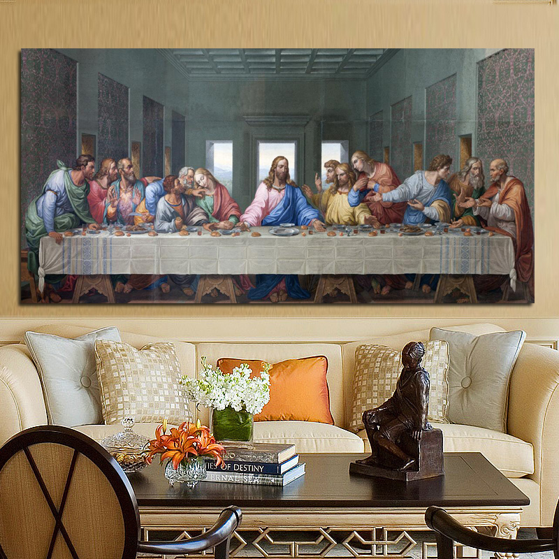 Leonardo Da Vinci's The Last Supper Famous Painting Posters And Prints Quadros Wall Art Picture For Living Room Decor Cuadros
