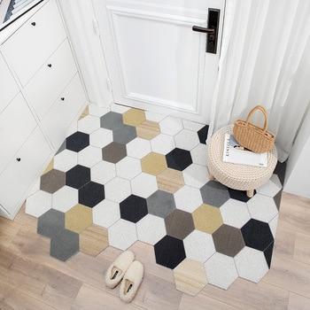 PVC Silk Loop mat carpet Door Mat Nordic Minimalist Anti-slip Indoor Entrance Kitchen Bathroom Foot pad Floor mat door carpet pebble series flannel printing home anti slip absorbent entry mat bathroom mat door mat bedside mat