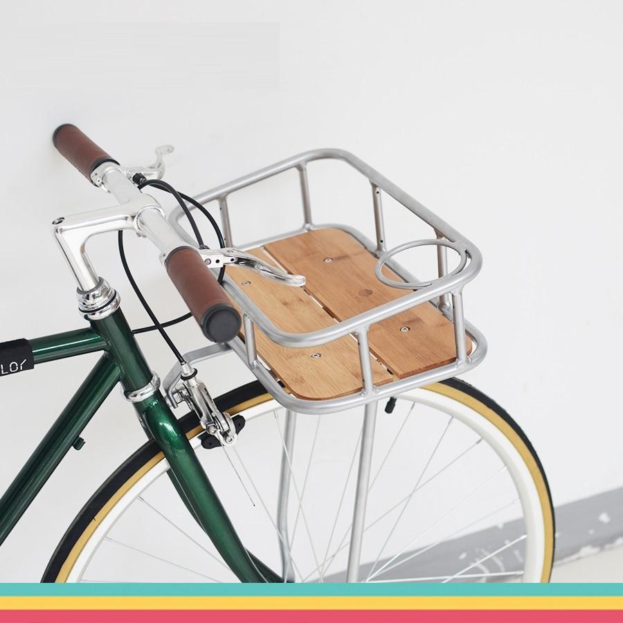 Велосипедные Сумки на багажник 700C дорожный велосипед Ретро велосипед фиксированная передача велосипедная корзина из алюминиевого сплава практичная декоративная корзина Сумки и корзины для велосипеда      АлиЭкспресс