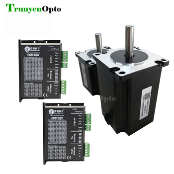 Laser  machine used 3 phase leadshine stepper motor 573S10 573S20 and driver 3DM580 package selling - sale item Welding Equipment