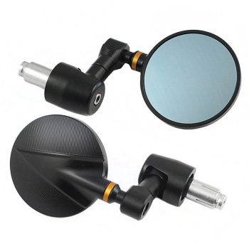 Motorcycle Universial Top Quality Billet CNC 22mm or 28mm Handle Bar End Review Mirror Motorbike Scooters  For Cafe Racer