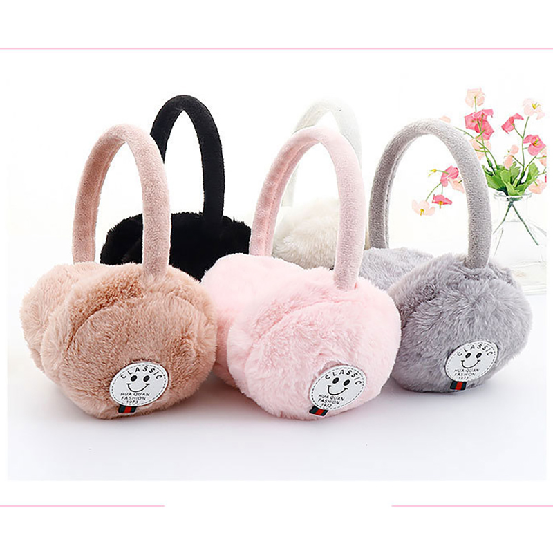 Children Earmuffs Fluffy Cute Winter Ear Cover Thick Warm Sweet Earlap Comfortable Outdoor Muffs Solid Plush Comfortable Earmuff