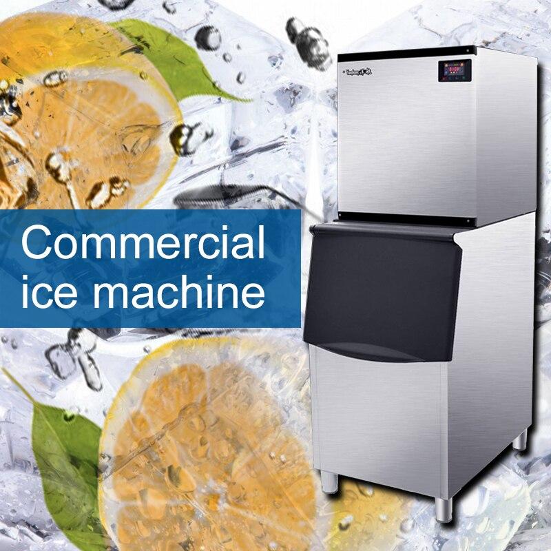 220V / 750W Intelligent Automatic Ice Machine Commercial Large Ice Machine Tea Shop Bar Ktv Large Capacity Ice Machine