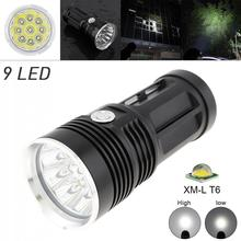 Waterproof Black  LED Flashlight 2700LM  9x XML T6 LED 3 Mode Outdoor Flash Lamp Torch for Hunting Camping sitemap 33 xml