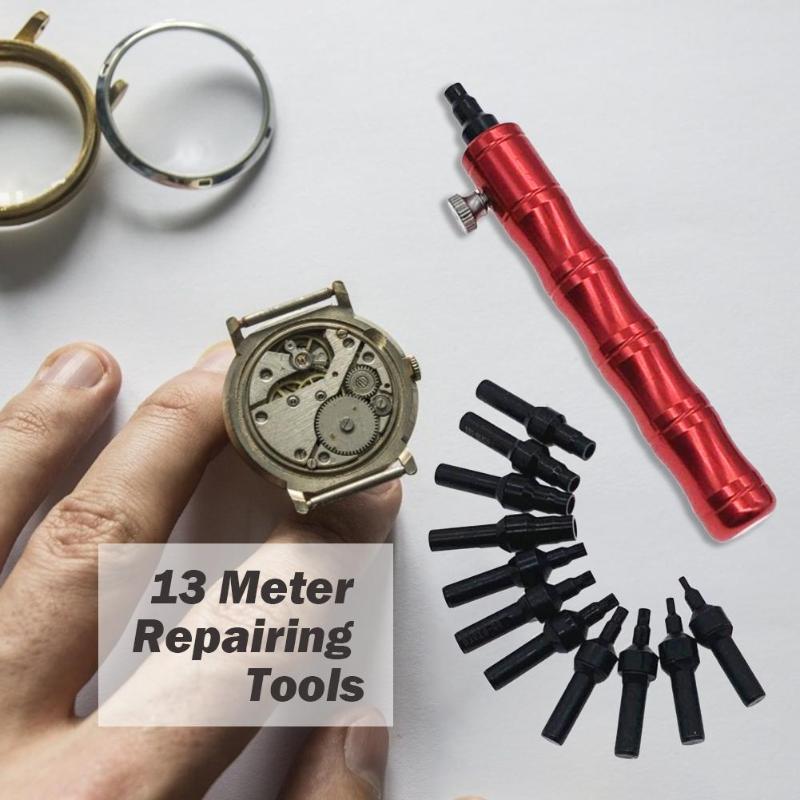13 pièces/ensemble Outils Horlogers Support de Boîtier de Montre Ouvreur Horloge Réparation Outil Kit