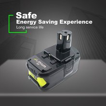 18V 4000mAh Li-ion cell Rechargeable power tool battery For RYOBI P108 RB18L40 High Capacity Lasting power Stable discharge znter battery for ryobi 18v 6000mah p108 rb18l40 lithium ion rechargeable battery pack power tools battery ryobi one