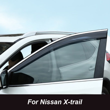 For Nissan X-trail X Trail Rogue T32 QASHQAI J11 2015 Window Visor Vent Shades Sun Rain Deflector Guard Awnings Auto Accessories window visor vent shades sun rain guard for toyota prado fj120 2003 2009