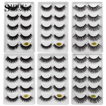 5 Pairs 3D Mink Hair False Eyelashes Natural/Thick Long Eye Lashes Wispy Makeup Beauty Extension Tools Makeup Eyelashes Volume