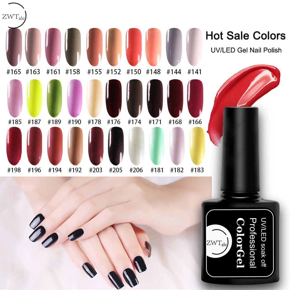 ZWTale Gel Nail Polish Set UV Gel Varnish Semi Permanent Primer 8ML 147Colors Poly Gel Nail Art Vernis Manicure in Nail Gel from Beauty Health