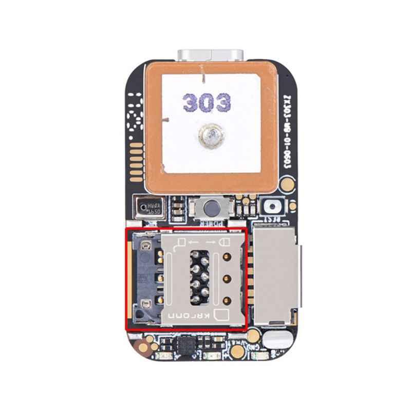 Ukuran Super Mini GPS Tracker GSM AGPS Wifi LBS Locator Gratis Web Pelacakan Aplikasi Perekam Suara ZX303 PCBA Dalam 87HE