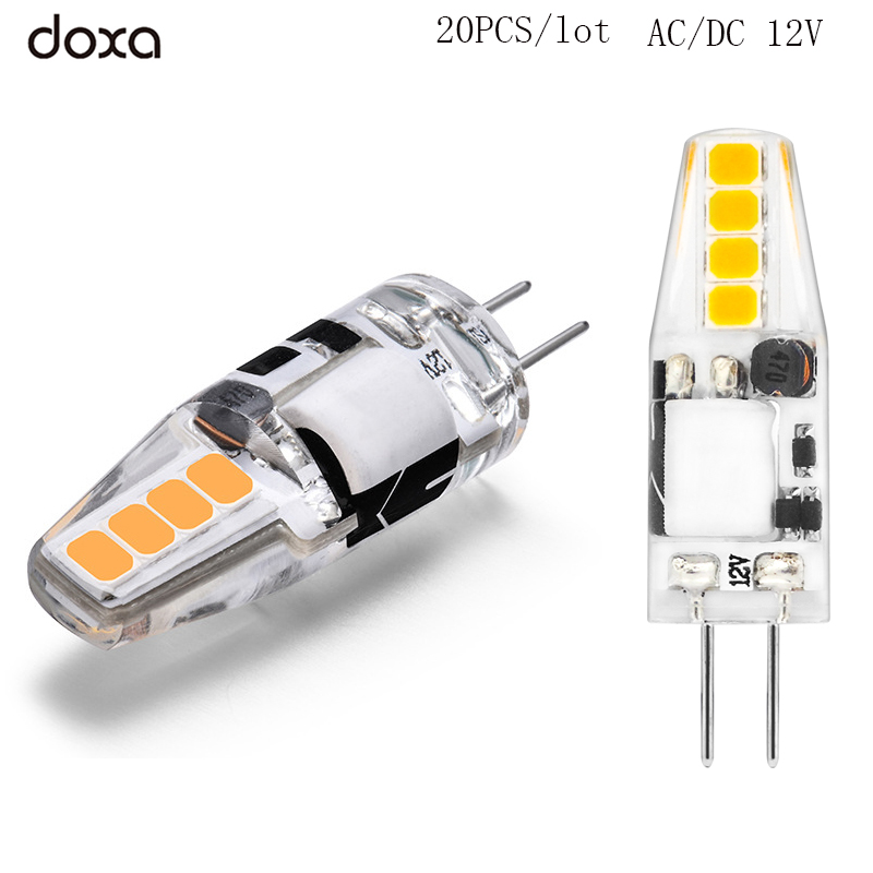 20PCS G4 LED Lamp 12V AC DC 2W Lampada Lampara LED G4 Light Bulb Ampul 8 Leds No Flicker 2835SMD Lights Replace 20W Halogen Lamp