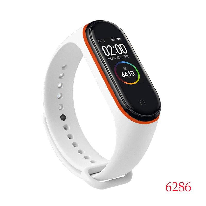 Для Xiaomi Mi Band 4/3 ремешок Металлическая пряжка силиконовый браслет аксессуары miband 3 браслет Miband 4 ремешок для часов М - Цвет: 6286