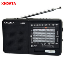 Xhdata D-328 Radio FM Am SW Portable Radio Gelombang Pendek Band MP3 Player dengan Tf Kartu Jack 4Ω/3W internet Radio(China)
