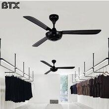 BTX Grandes vintage industrial comercial alta viento ventilador de techo con luz de la decoración