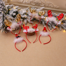 1 шт. рождественские украшения пушистые рожки с бубенцами повязки на голову украшения Детские праздничные платья