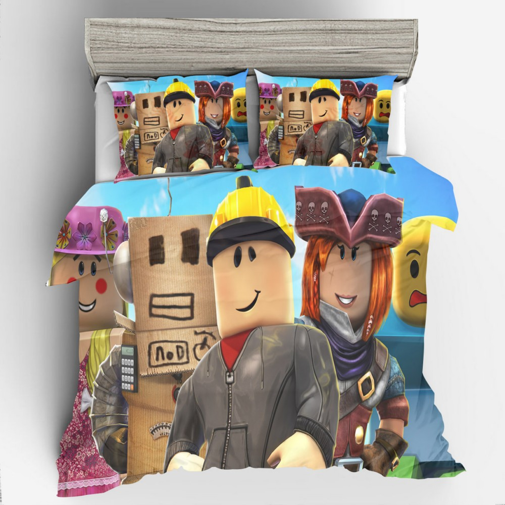 3D Design Digital Printing Bedding Set Duvet Cover Pillowcase Bedclothes Dropshipping Boy Gife Game ROBLOX 02 image