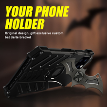 Bat Series Metal Phone Cases For Apple iPhone 11 Case iphone11 pro max Shell Aluminum Cover Heat Dissipation+Straps