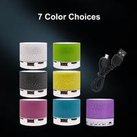 led music 2020 Wireless Bluetooth Speaker Mini LED Music Audio TF USB FM Stereo Sound Portable Speaker For Phone Xiaomi Computer (5)