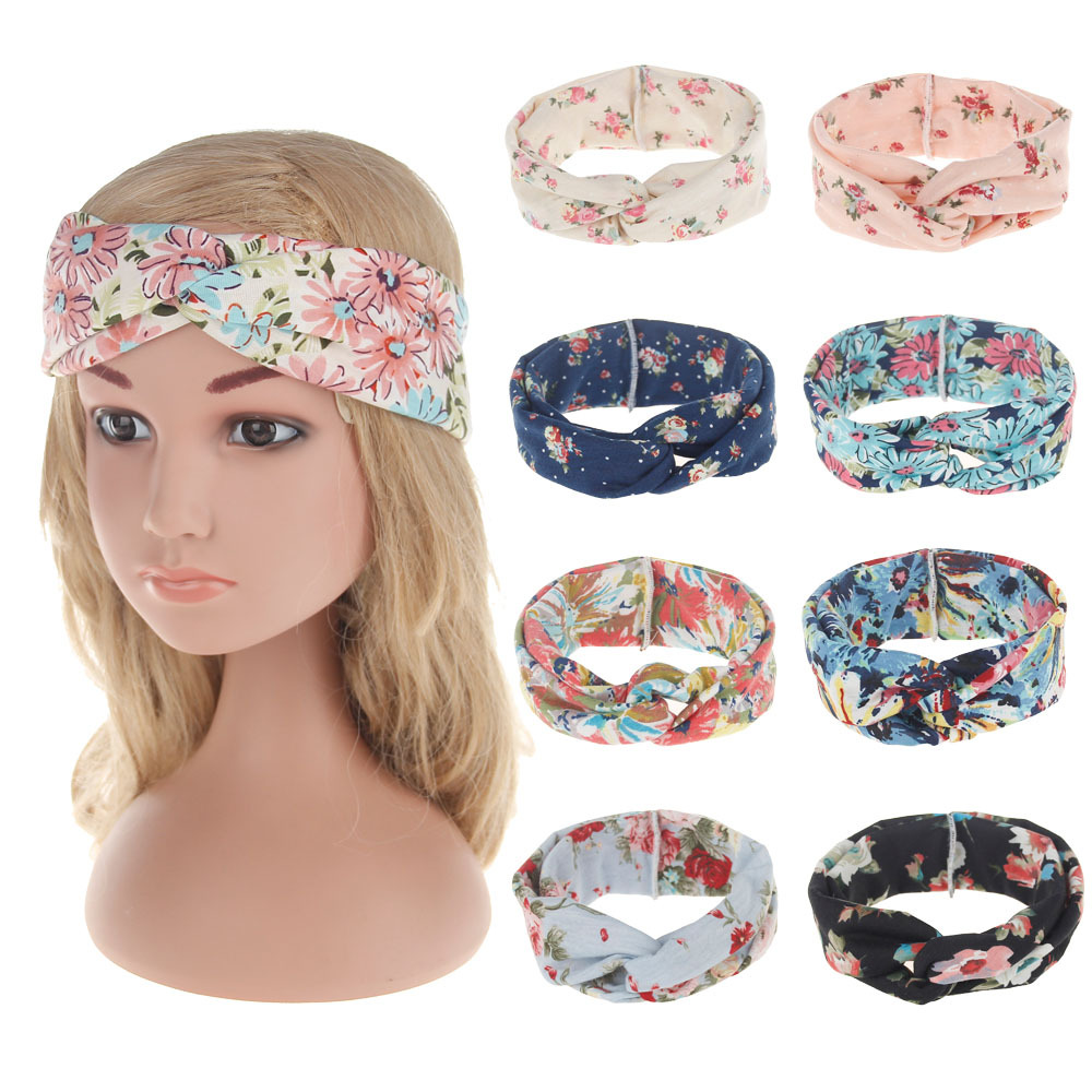Купить детская повязка на голову в стиле бохо эластичная хлопковая