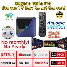 A95X F3 Android 9.0  MAX iPTV BOX 8K Media player Smart TV Box lifetime IPTV Set Top BOX Support 3D HDMI IPTV Netflix Youtube android 7 1 smart tv box rk3328 4g 32g ricevitore tv 4 k 2160 p 3d wifi media player play store netflix youtube iptv set top box