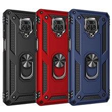 Odporny na wstrząsy pancerz magnetyczny metalowy futerał do Xiaomi Redmi Note 9 8T 9c 8 7 9s 10 Poco X3 NFC F2 9A 7A 8A K20 9T Pro 10T pierścień okładka