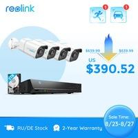 Reolink Smart 4k Sicherheit Kamera System PoE 24/7 Aufnahme 2TB HDD Person/Fahrzeug Erkennung 8MP video recorder RLK8-810B4-A