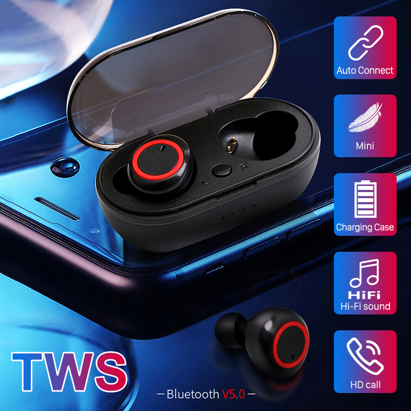 Bluetooth наушники A2 TWS, Hi Fi стерео 5,0, с зарядным футляром|Наушники и гарнитуры|   | АлиЭкспресс