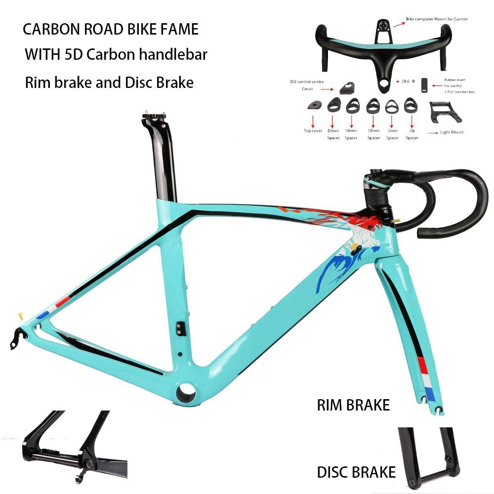 2020 Carbon Fiber Road Bike Frame Aero Road Bicycle Frame Fork Seatpost Rim Brake Disc Brake UD Weave DPD XDB Free Tax