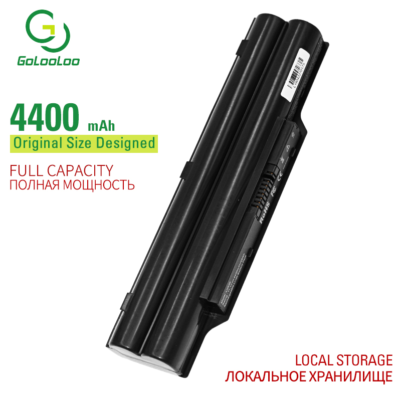 Golooloo 6 Cells Laptop Battery BP250 FPCBP250 For Fujitsu LifeBook A530 A531 AH/D AH42/C AH42/D AH42/E AH530 AH530/3A AH531
